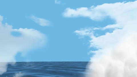 Clear sky and the sea Animation