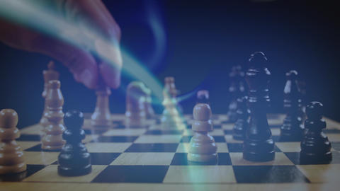 Man playing chess Animation