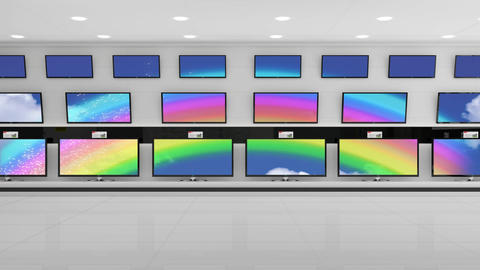 Television with colourful screens Animation
