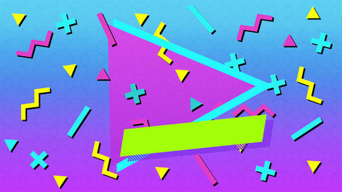 Pastel colored shapes and symbols Animation