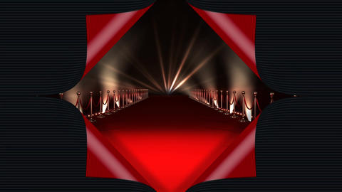 Red carpet with lights Animation