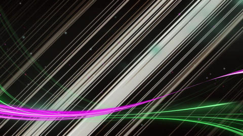 Diagonal lines with purple and green lights Animation