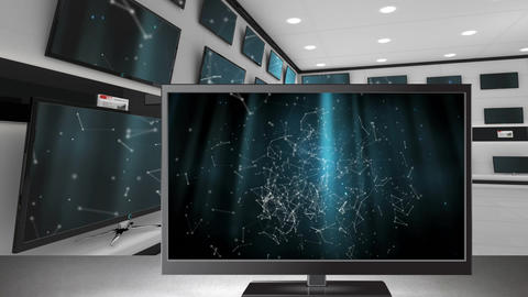TVs displayed at an electronics store Animation