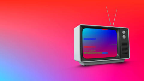 Television with pixel noise Animation