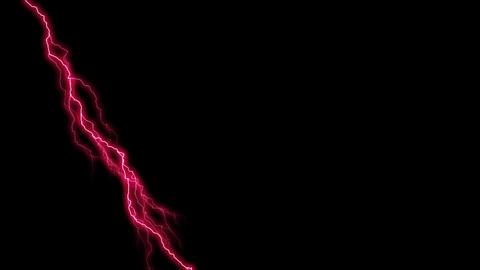 Pink lightning Animation