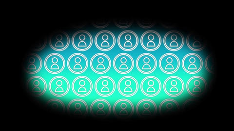 Vector icons of people 4k Animation