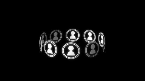 Social media circle 4k Animation