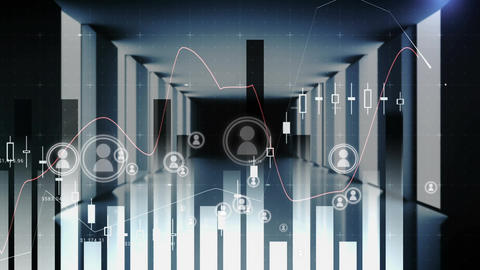 Digital connections in the stock market Animation