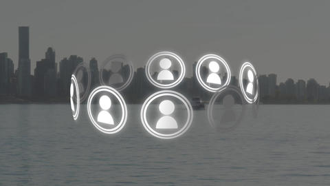 Social media connection Animation