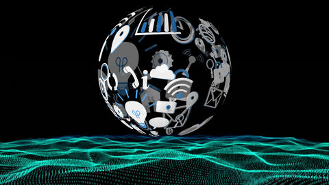 Digital application icons Animation