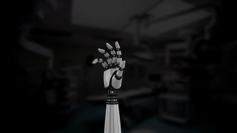 Robot arm in an operating room Animation