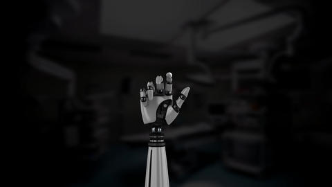 Robot arm in an operating room Stock Video Footage