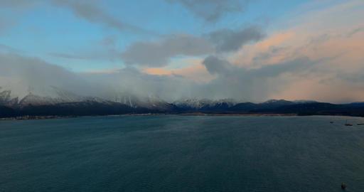 Ships at sea in Alaska Live Action