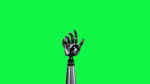 Robot arm on a green background Animation