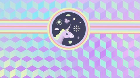 Head of a unicorn Animation
