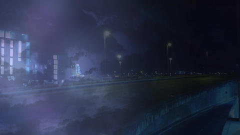 Highway on a stormy night Animation
