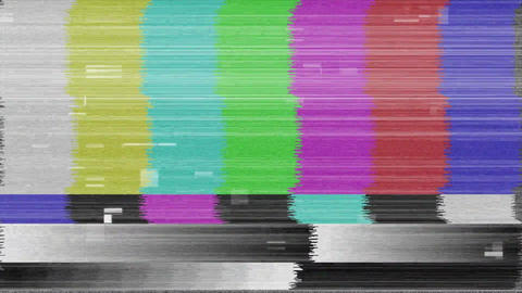 Animation of no channel TV screen Animation