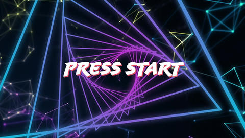 Arcade game press start Animation