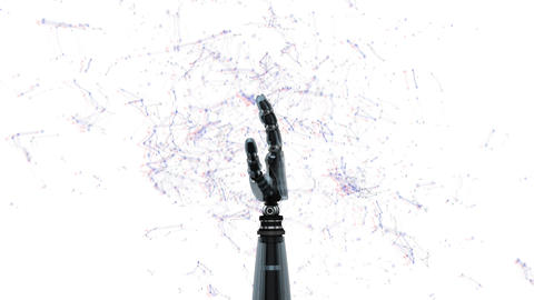 Robot arm with constellations Animation