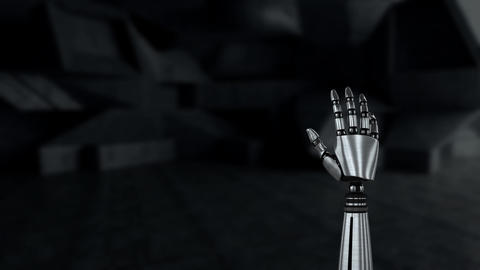 Robot arm in a stock room Animation