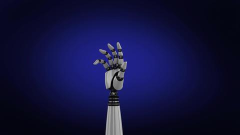 Robot arm on dark background Animation