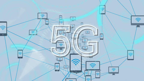 5G internet connection Animation