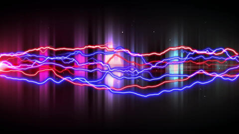 Colorful lightning and glowing lights Animation