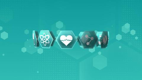 Medical science symbols Animation