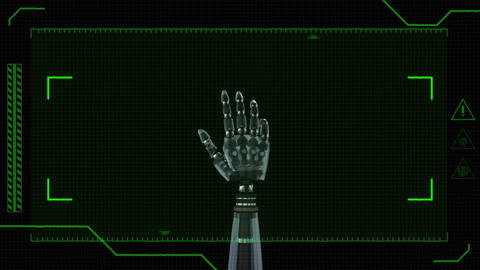 Robotic hands and view finder Animation