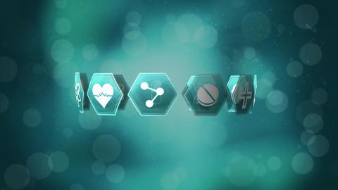 Medical icons and bokeh lights Animation