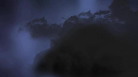 Stormy night sky Animation