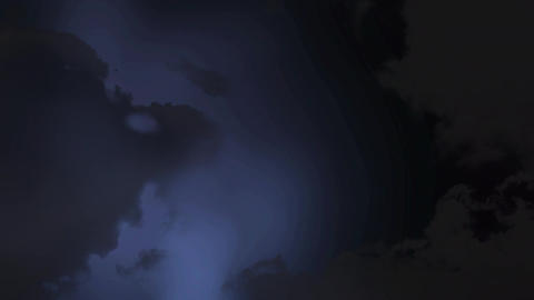 Sky with dark clouds and lightning Animation