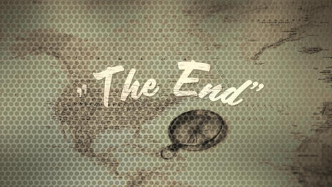 The end text for a movie Animation