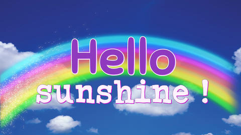 Hello sunshine greeting Animation