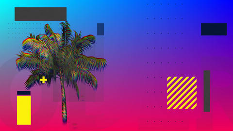 Palm tree with squares and rectangles Animation