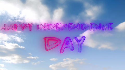 Happy Independence Day greeting Animation
