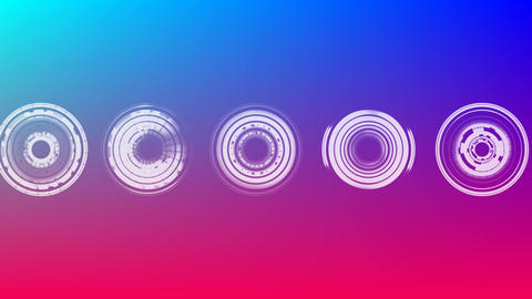 Futuristic circles Animation
