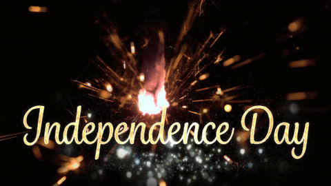 Independence day text and a sparkle for fourth of July Animation
