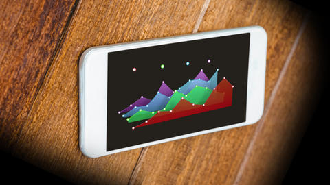 Graph displayed on a smartphone Animation