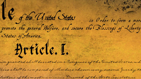 Written constitution of the United States 4k Animation
