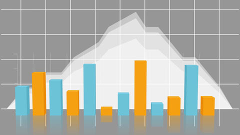 Graphs and statistics moving on grid Animation