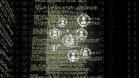 Programming language of digital connection Animation