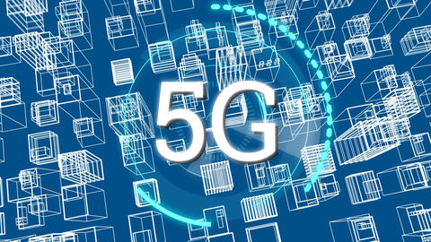 5G internet speed at the city Animation