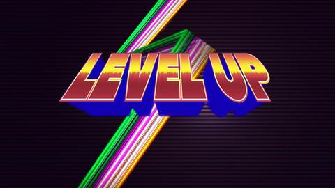 Gaming level up Animation