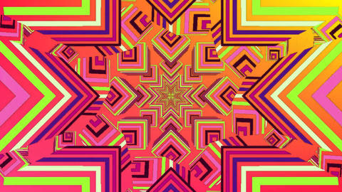 Colourful kaleidoscope pattern Animation
