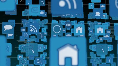 Internet symbols and icons Animation
