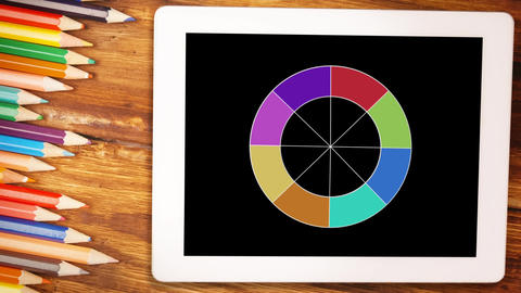 Colour wheel on an ipad screen Animation