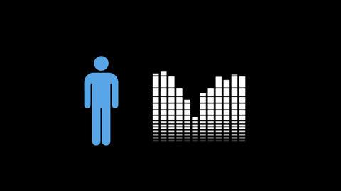 sound volume level bars Animation