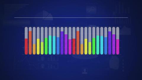 Rainbow coloured bar chart Animation
