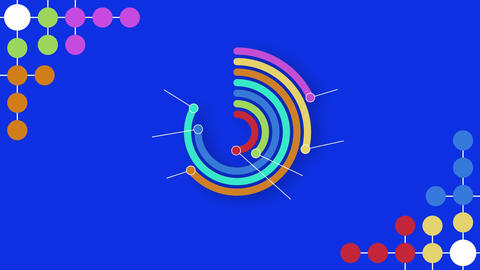 Colourful dots twisting Animation